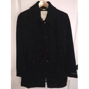 kate spade new york Women's Black Wool Blend coat